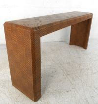 Mid-Century Modern Woven Cane Springer Style Console Table ...