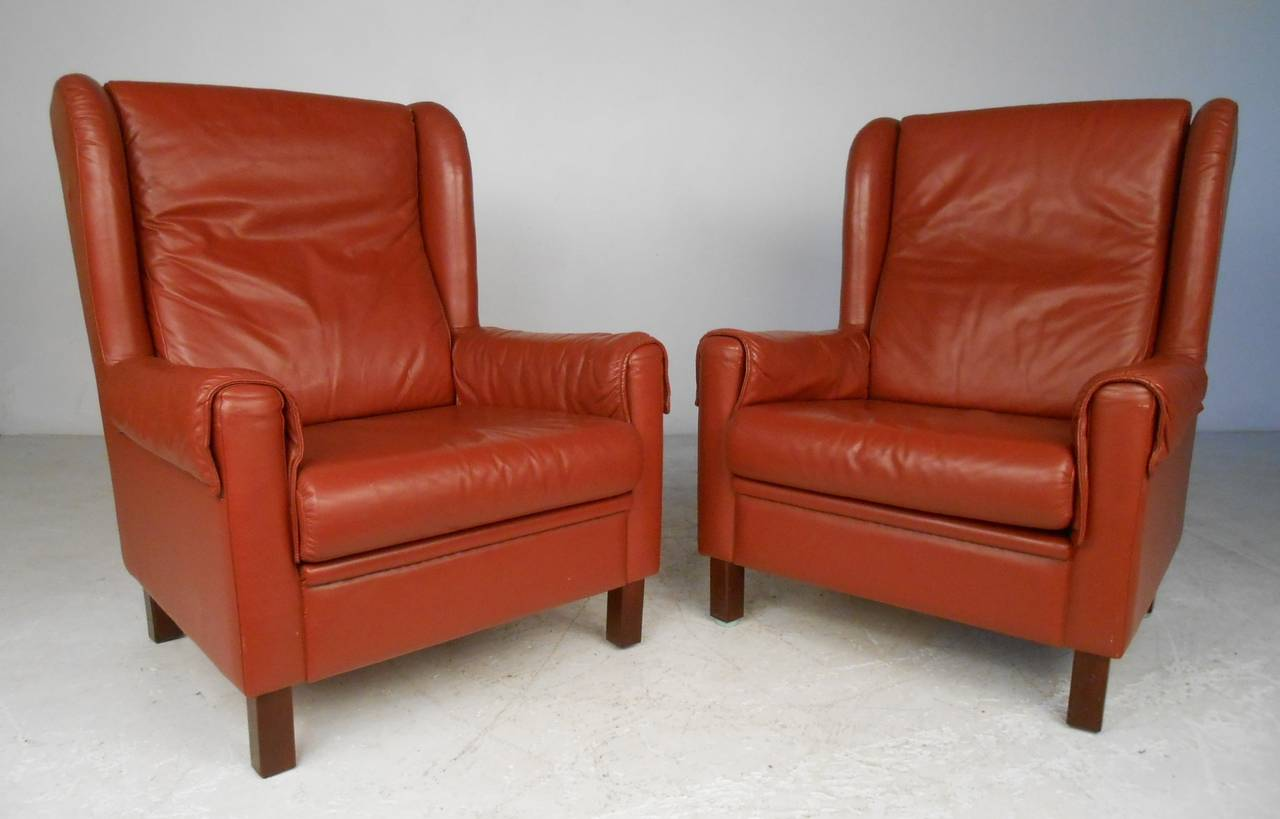 modern wingback chairs for sale walmart porch danish leather at 1stdibs