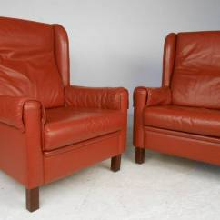 Modern Wingback Chairs For Sale Hooked Chair Pad Patterns Danish Leather At 1stdibs