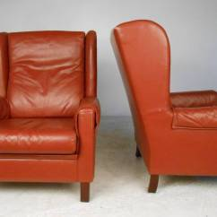 Modern Wingback Chairs For Sale Leap Chair Accessories Danish Leather At 1stdibs
