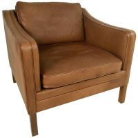 Mid-Century Leather Club Chair at 1stdibs