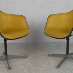Eames Bucket Chair Customized Makeup Chairs Pair Charles For Herman Miller