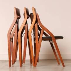 Modern Folding Chair Pink Office Walmart Set Of Four Dyrlund Danish Teak Dining