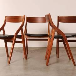 Modern Folding Chair 2 Kitchen Table Set Of Four Dyrlund Danish Teak Dining