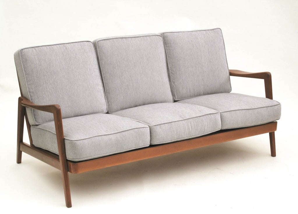 dux sofa by folke ohlsson sleeper mattress pad twin mid century scandinavian design wood frame sofa, 1960s ...