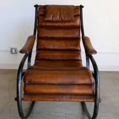 Chair And Steel Gaming Pc Sculptural Leather Rocking At 1stdibs