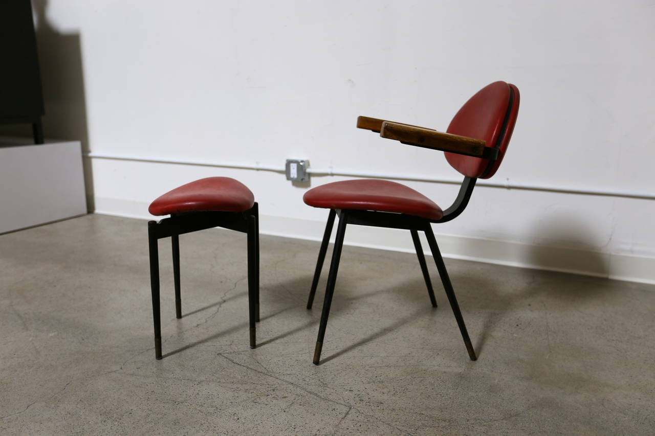 chair and matching stool hanging online carlo mollino at 1stdibs
