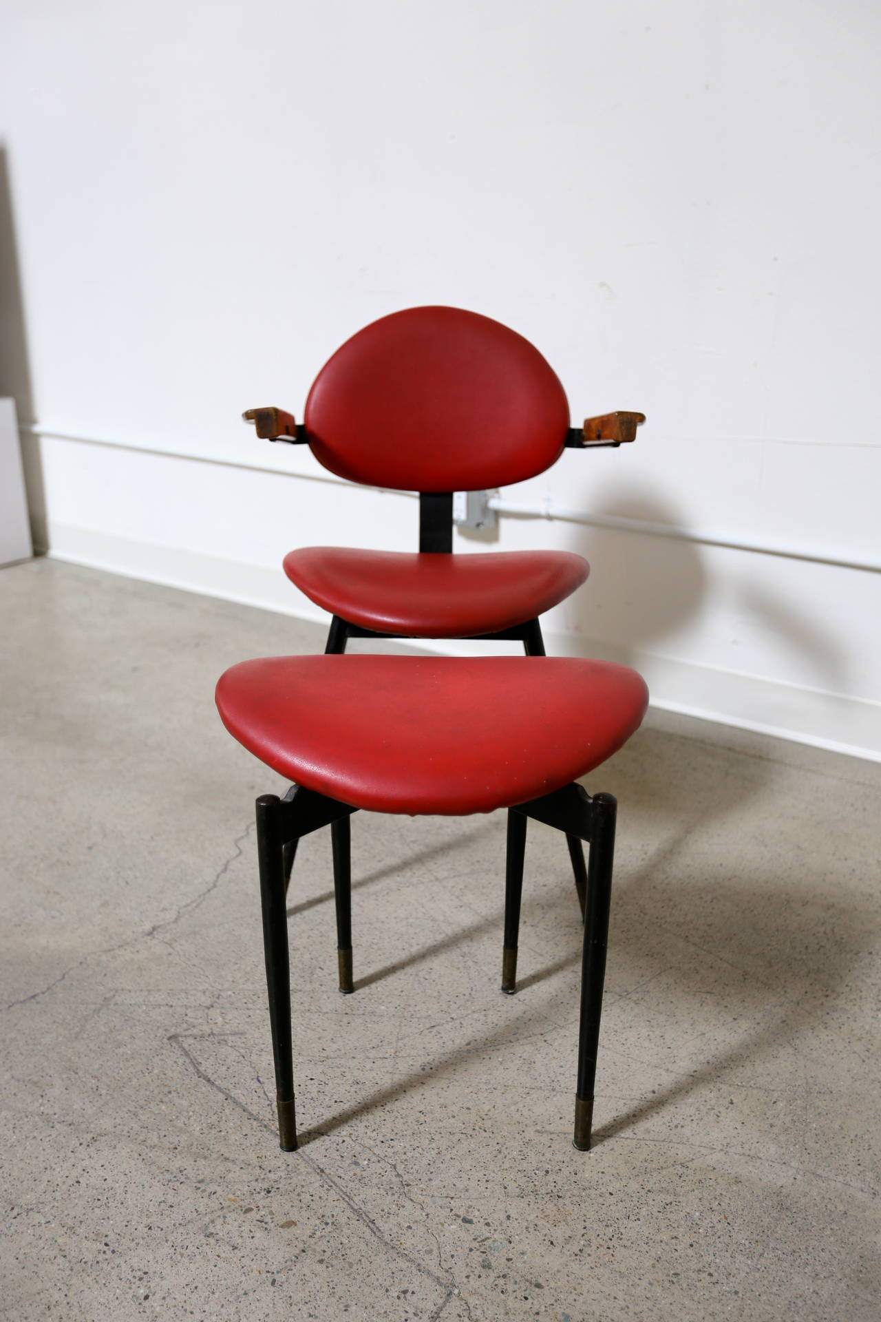 chair and matching stool armless upholstered carlo mollino at 1stdibs