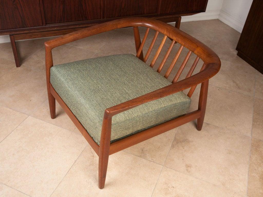 teak lounge chair ergonomic reviews uk danish by folke ohlsson for dux at 1stdibs