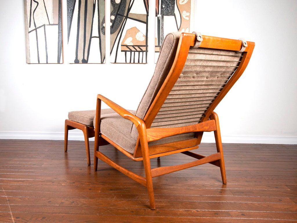 Selig Lounge Chair Reclining Lounge Chair And Ottoman By Kofod Larsen For