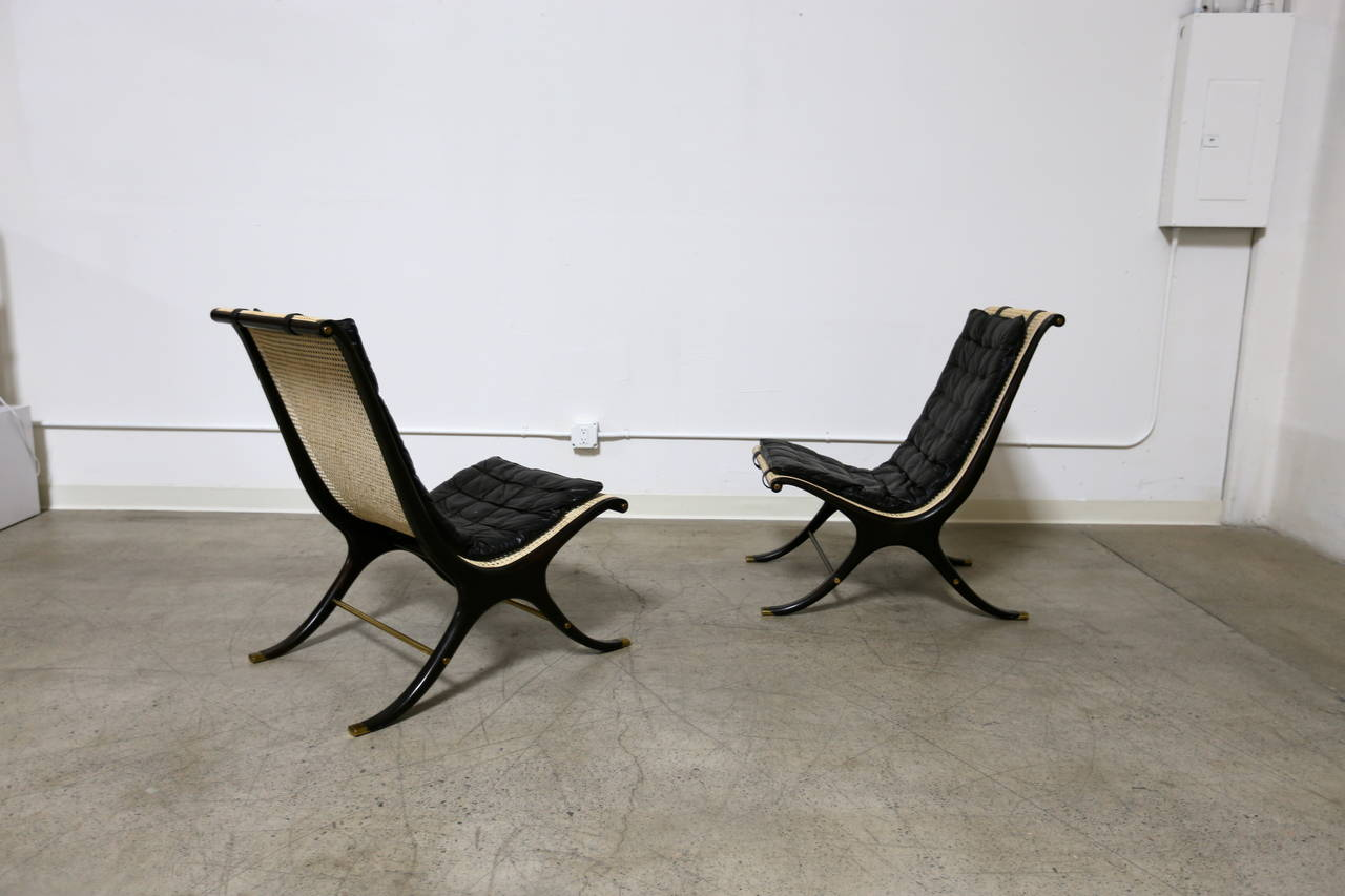 jerome's swivel chairs wheelchair shop pair of lounge by gerald jerome at 1stdibs