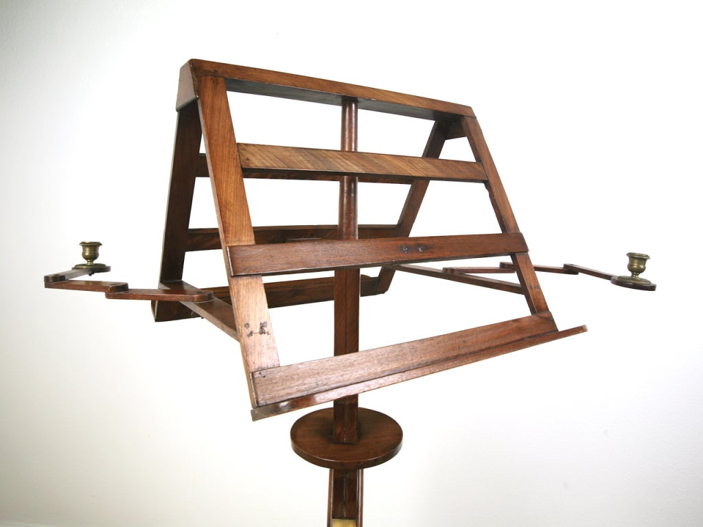 French Duet Mahogany Music Stand At 1stdibs