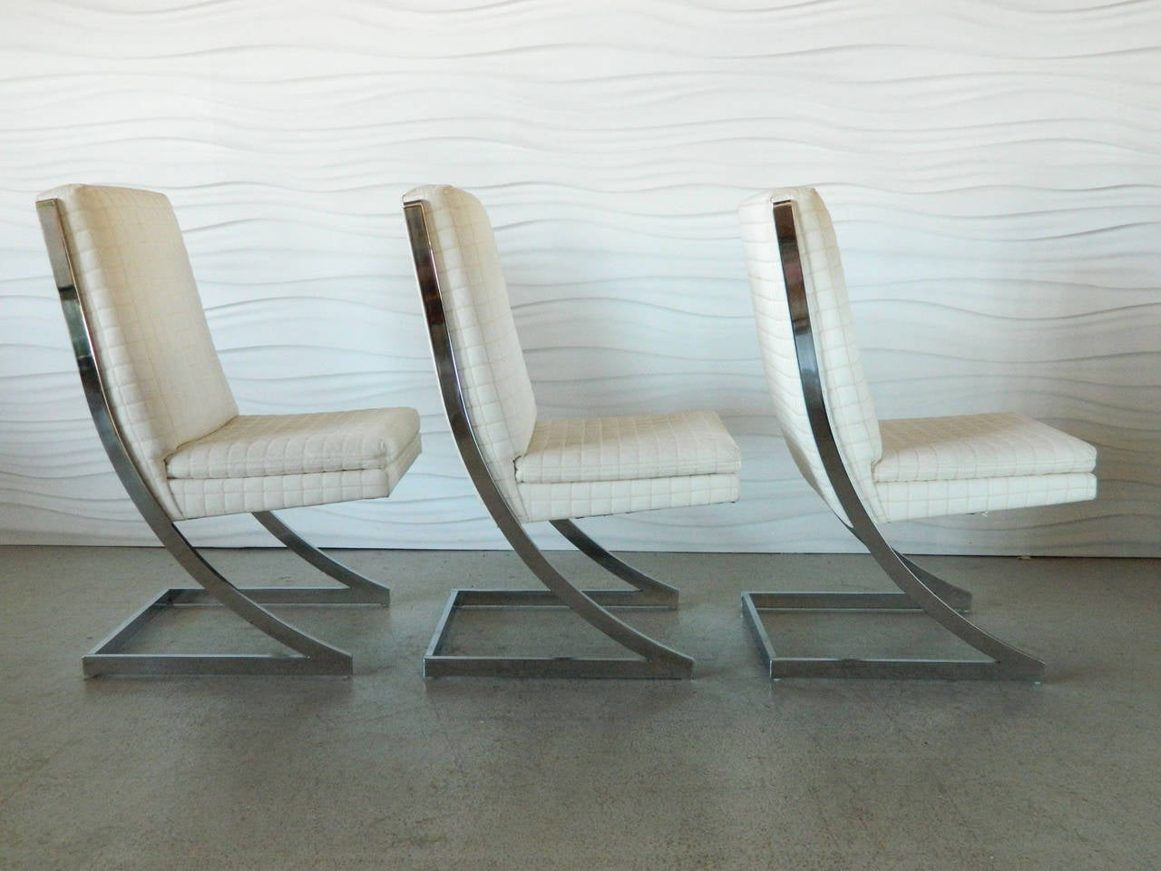 milo baughman dining chairs chiavari china chrome z for dia at 1stdibs