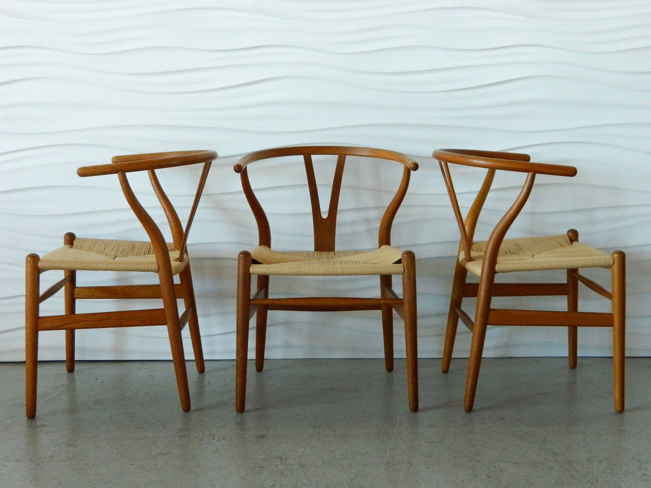 wishbone chairs standard furniture fairhaven rustic two tone table and chair set hans wegner teak at 1stdibs