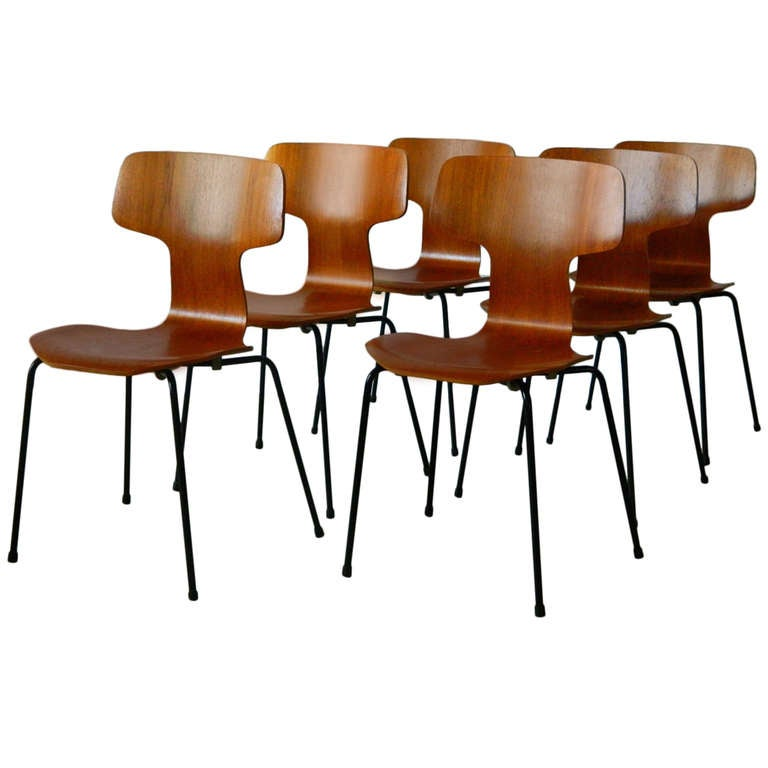 bent wood chair design engineering arne jacobsen model 3103 teak chairs at 1stdibs for sale