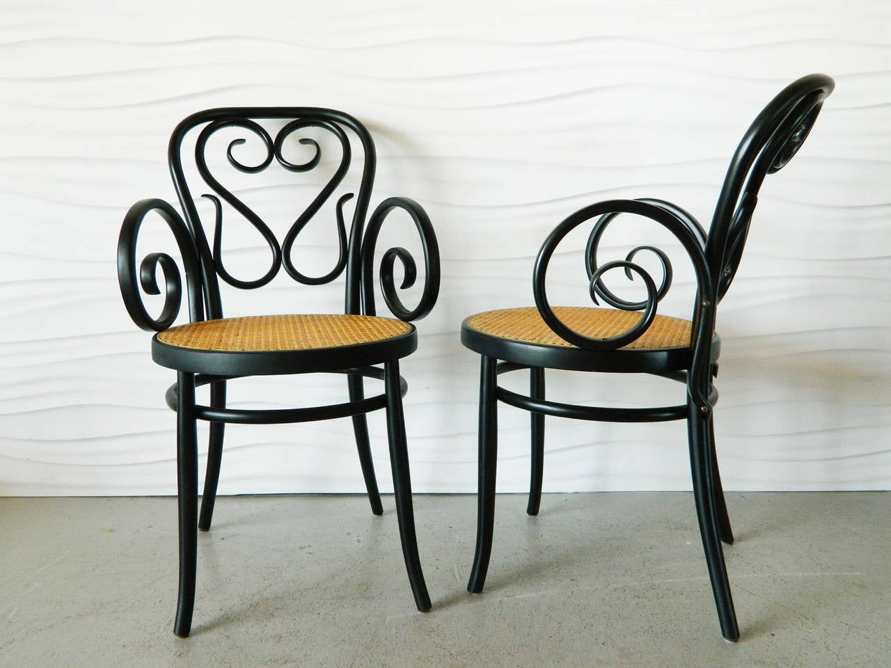 Cafe Chairs For Sale Set Of Four Italian Bentwood And Cane Cafe Chairs At 1stdibs