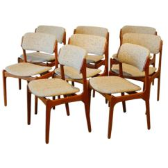 Danish Dining Chair Fisher Price Space Saver Set Of Eight Erik Buck Teak Chairs At 1stdibs For Sale