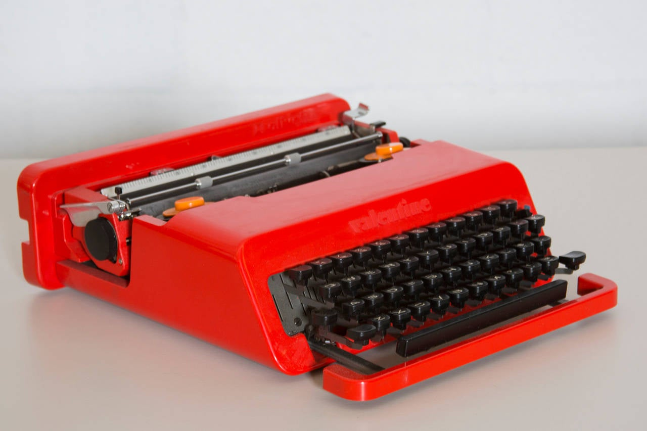 Olivetti Valentine Typewriter By Ettore Sottsass And Perry