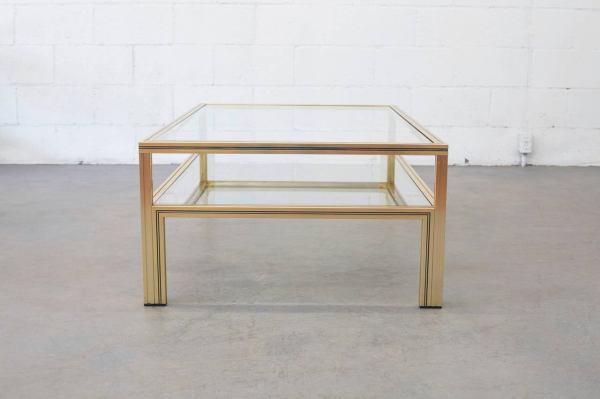 Pierre Vandel Double Layer Glass Coffee Table 1stdibs