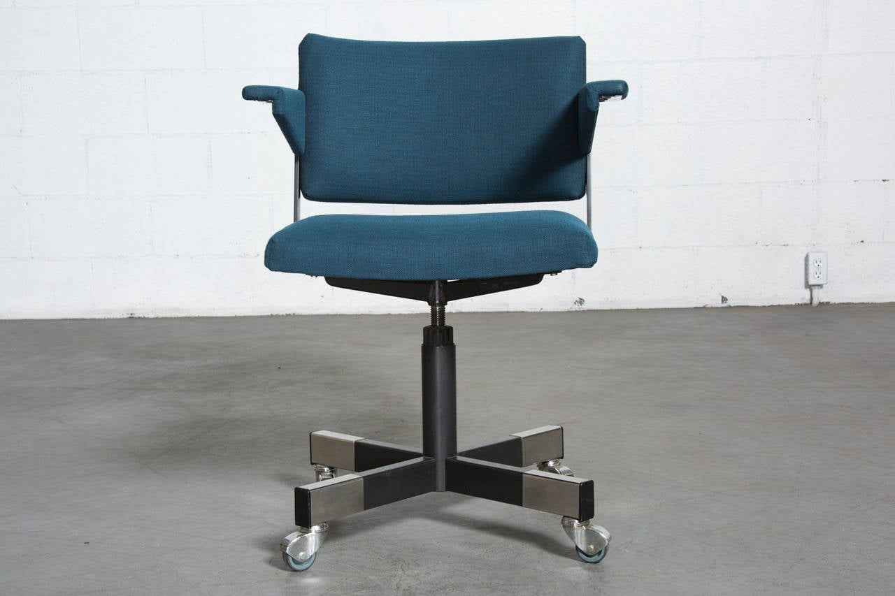 Roller Chairs A R Cordemeijer For Gispen Rolling Office Chair At 1stdibs
