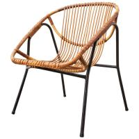 Mid-Century Modern Bamboo Bucket Lounge Chair at 1stdibs