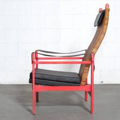 Woven Lounge Chair Gym Resistance Bands P J Muntendam Rattan With Leather