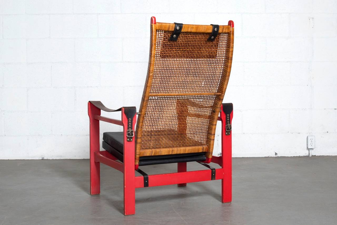 woven lounge chair mighty lite chairs p j muntendam rattan with leather