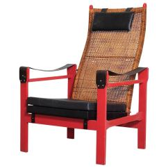 Woven Lounge Chair Swing To Buy P J Muntendam Rattan With Leather