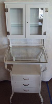 Mid Century Medical Apothecary Cabinet of White Porcelain ...
