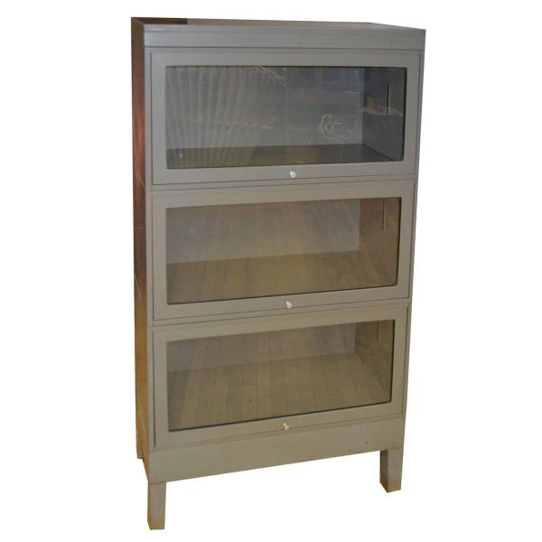 Metal Glass Front Storage Cabinet