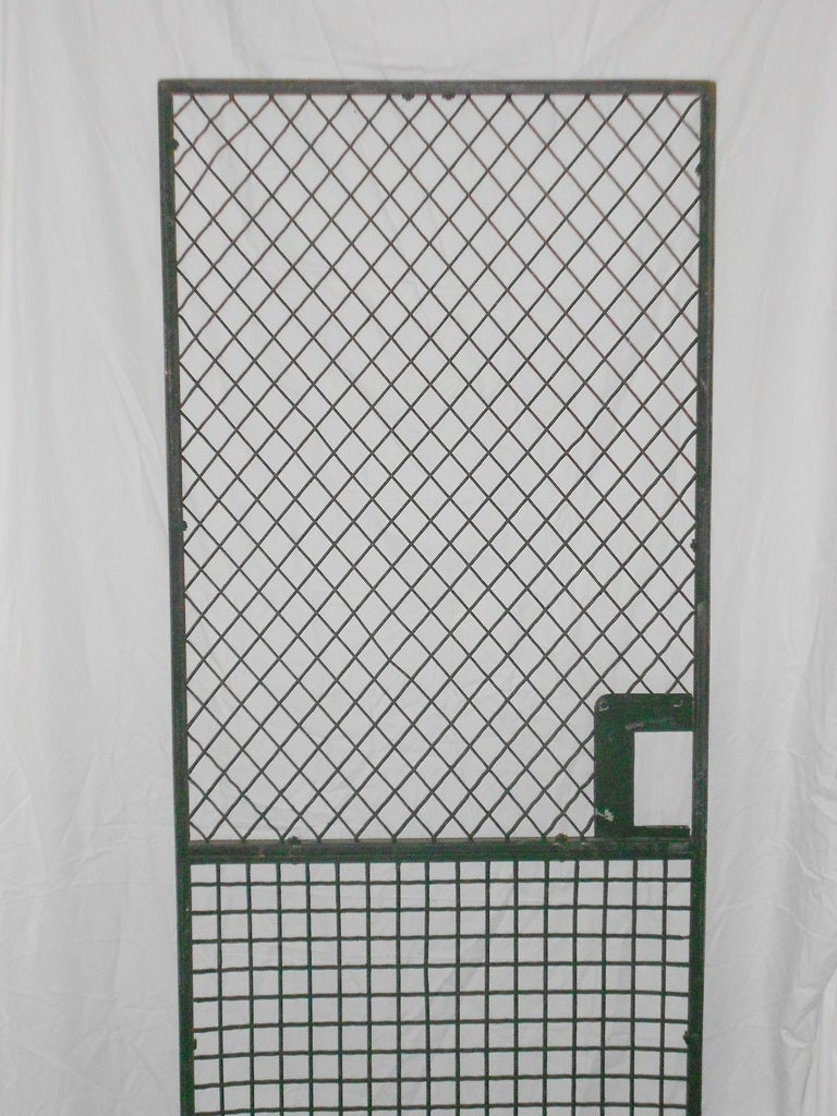 Steel Grid Bank Security Door Pair Available At 1stdibs