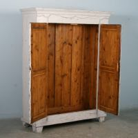 Antique White Painted Armoire, Sweden circa 1880 at 1stdibs