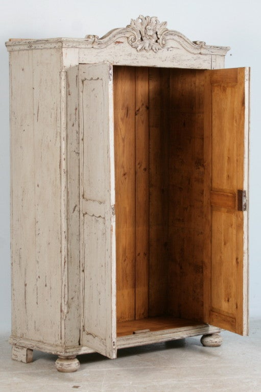 White Armoire Hanging Rod