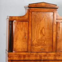 Antique Biedermeier Elmwood Secretary With Hidden ...