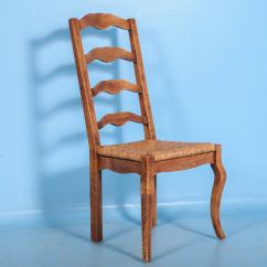 French Country Dining Chairs With Arms King Chair Outdoor Furniture Elm Wood And Rush Seat Set