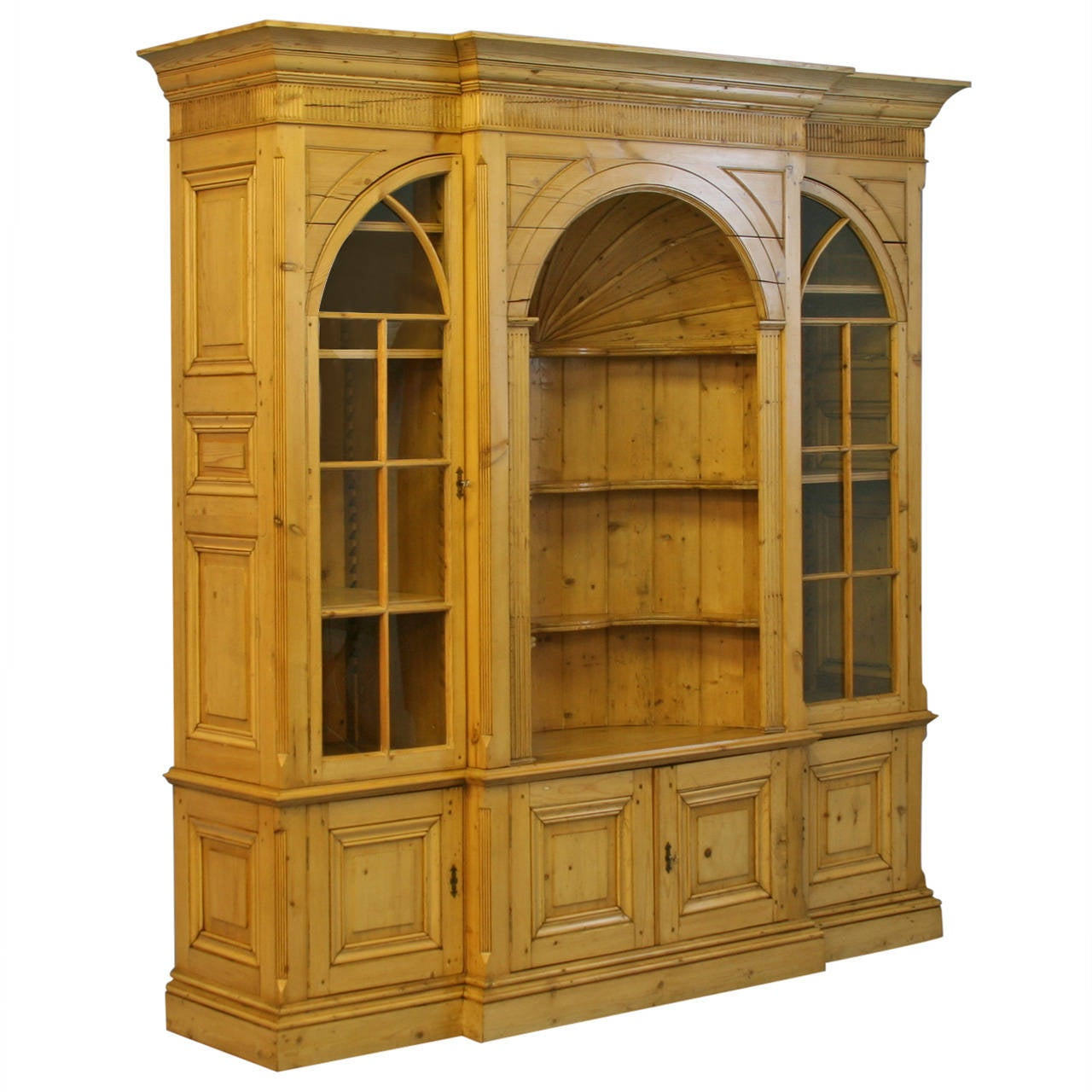 bookshelf chair for sale dining modern large english pine bookcase display cabinet at