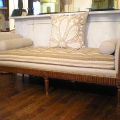 Hollywood Regency Curved Sofa How To Repair Torn Leather Seat French Daybed/bench At 1stdibs