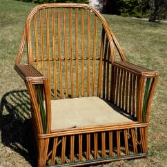 Heywood Wakefield Wicker Chairs Multi Gym Fitness Chair Antique Stick Seating Set At 1stdibs