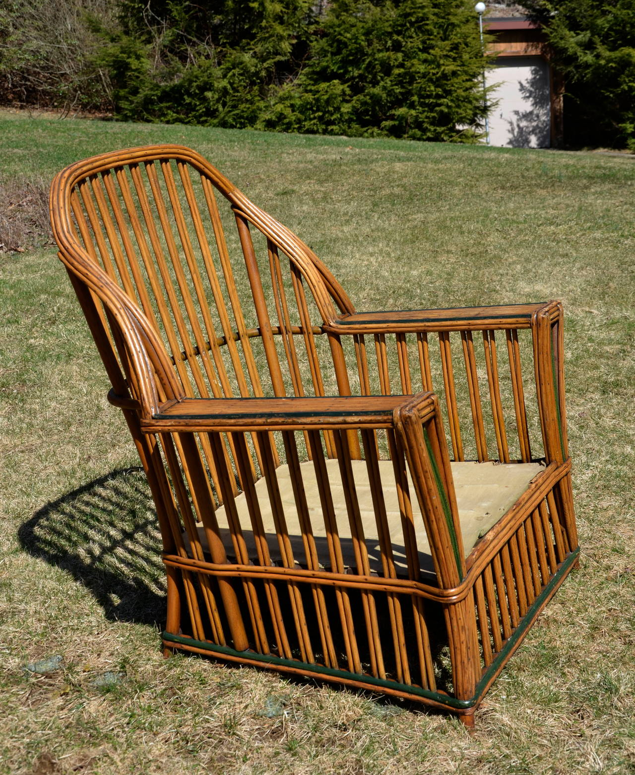 heywood wakefield wicker chairs best bean bag for dorms antique stick seating set at 1stdibs