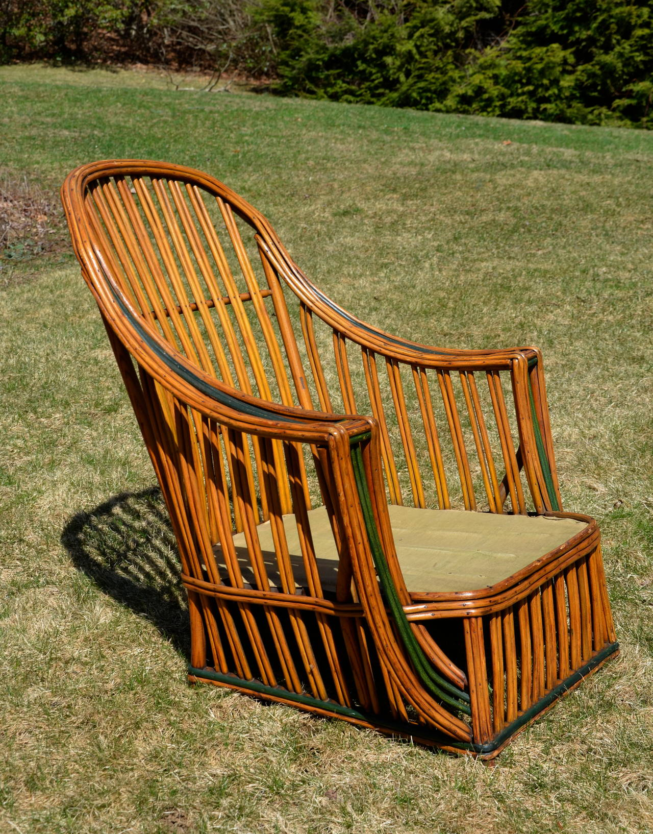 heywood wakefield wicker chairs pottery barn kids antique stick seating set at 1stdibs