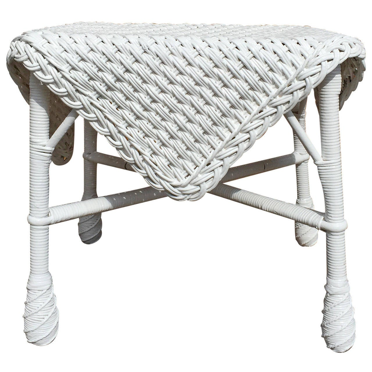 wicker chairs for sale executive chair staples antique ottoman at 1stdibs