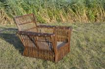 Antique Wicker Lounge Chair And Ottoman 1stdibs