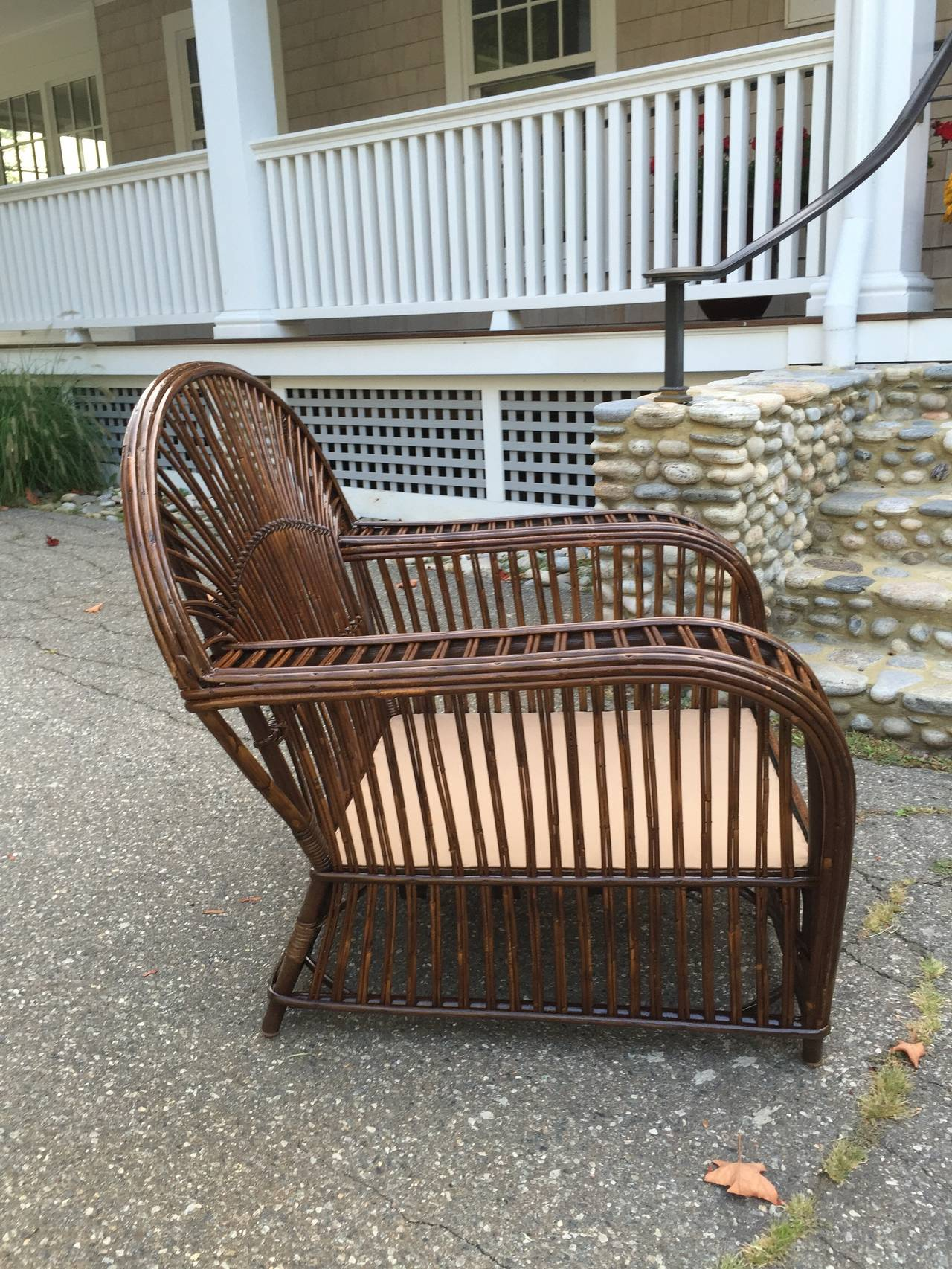 antique wicker chairs wrought iron outdoor india stick lounge for sale at 1stdibs