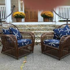Wicker Lounge Chair Universal Polyester Covers For Sale Antique Stick Chairs At 1stdibs