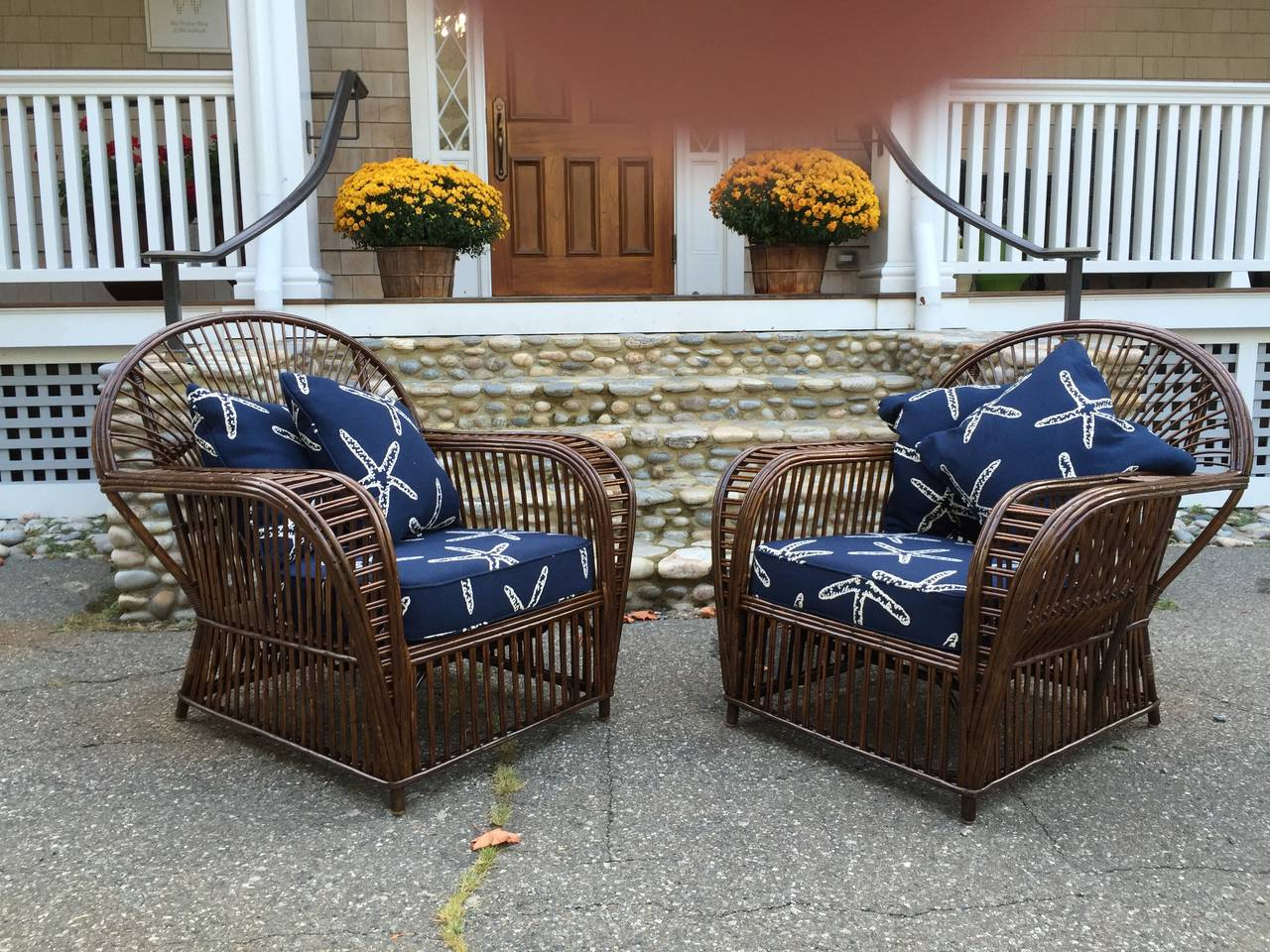 Vintage Rattan Chairs Antique Stick Wicker Lounge Chairs For Sale At 1stdibs