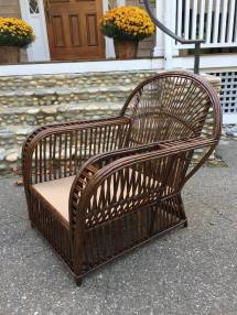 Antique Stick Wicker Lounge Chairs 1stdibs
