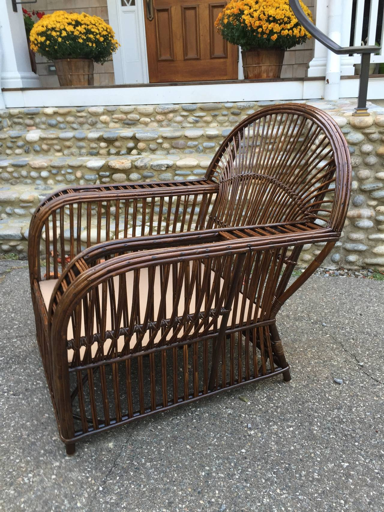 antique wicker chairs unusual for bedrooms stick lounge sale at 1stdibs