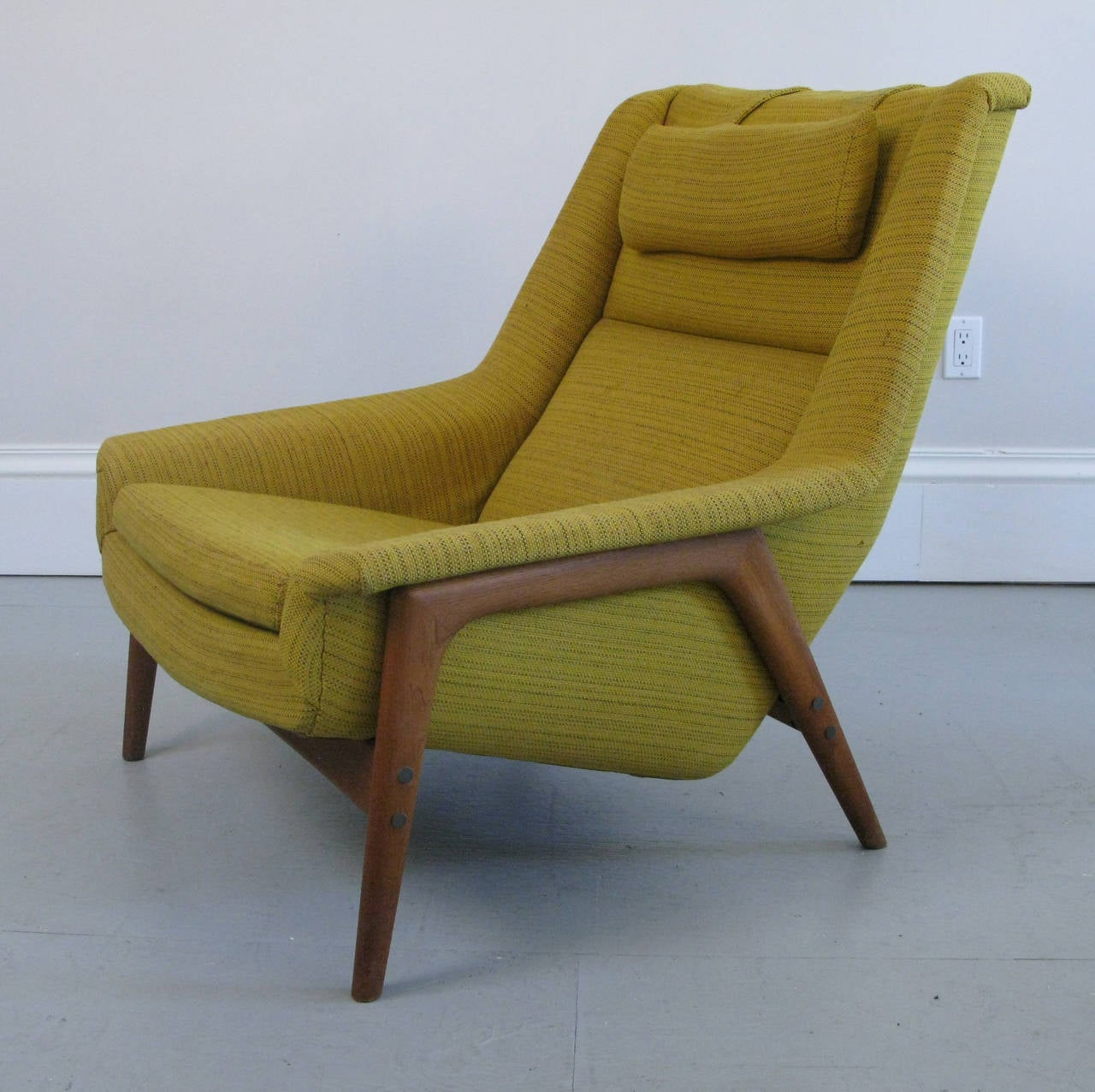Mid Century Chair And Ottoman Mid Century Swedish Lounge Chair And Ottoman With Dux