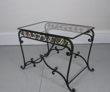 1950s Wrought Iron Garden Occasional Table 1stdibs