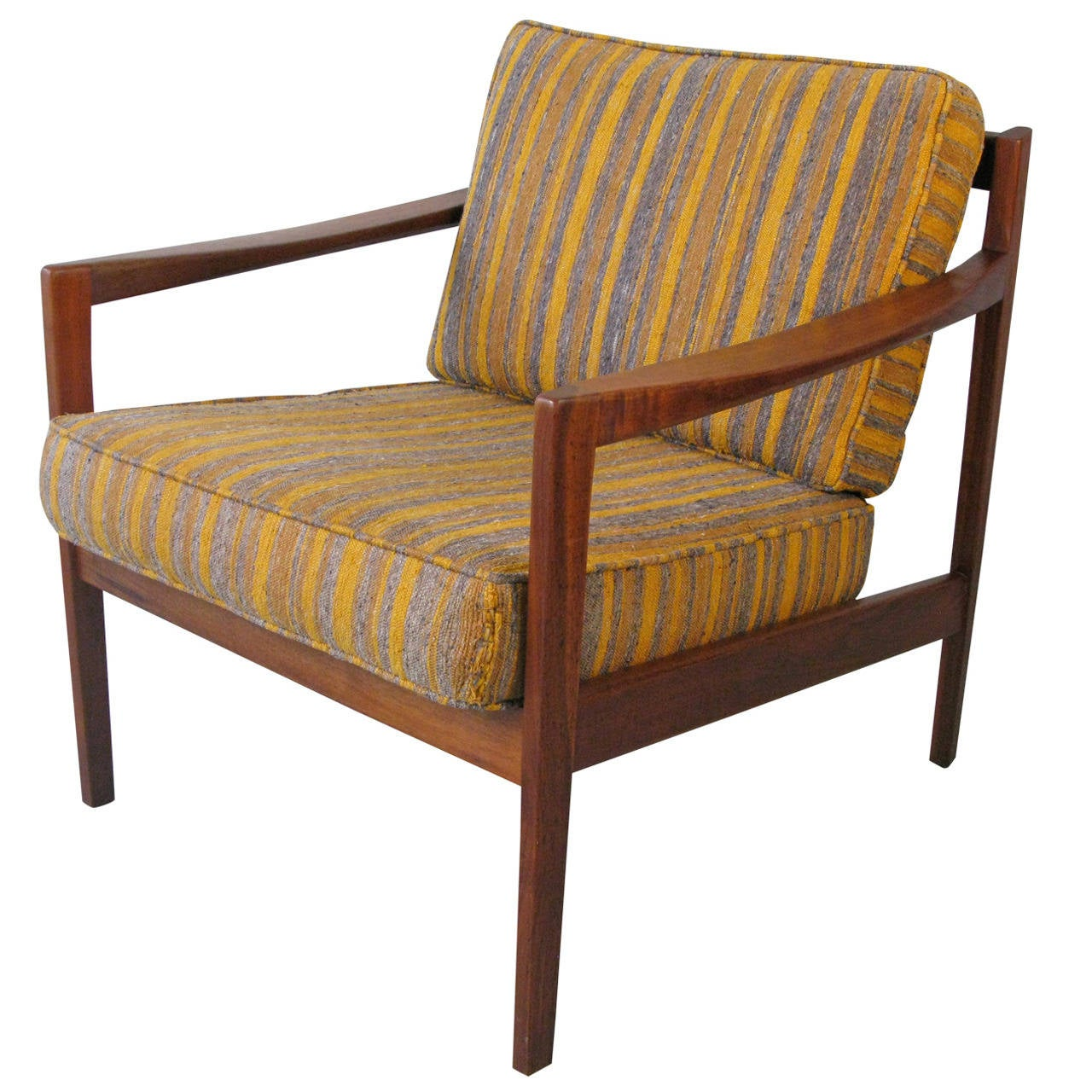 Danish Lounge Chair Mid Century Danish Lounge Chair With Dux Label At 1stdibs